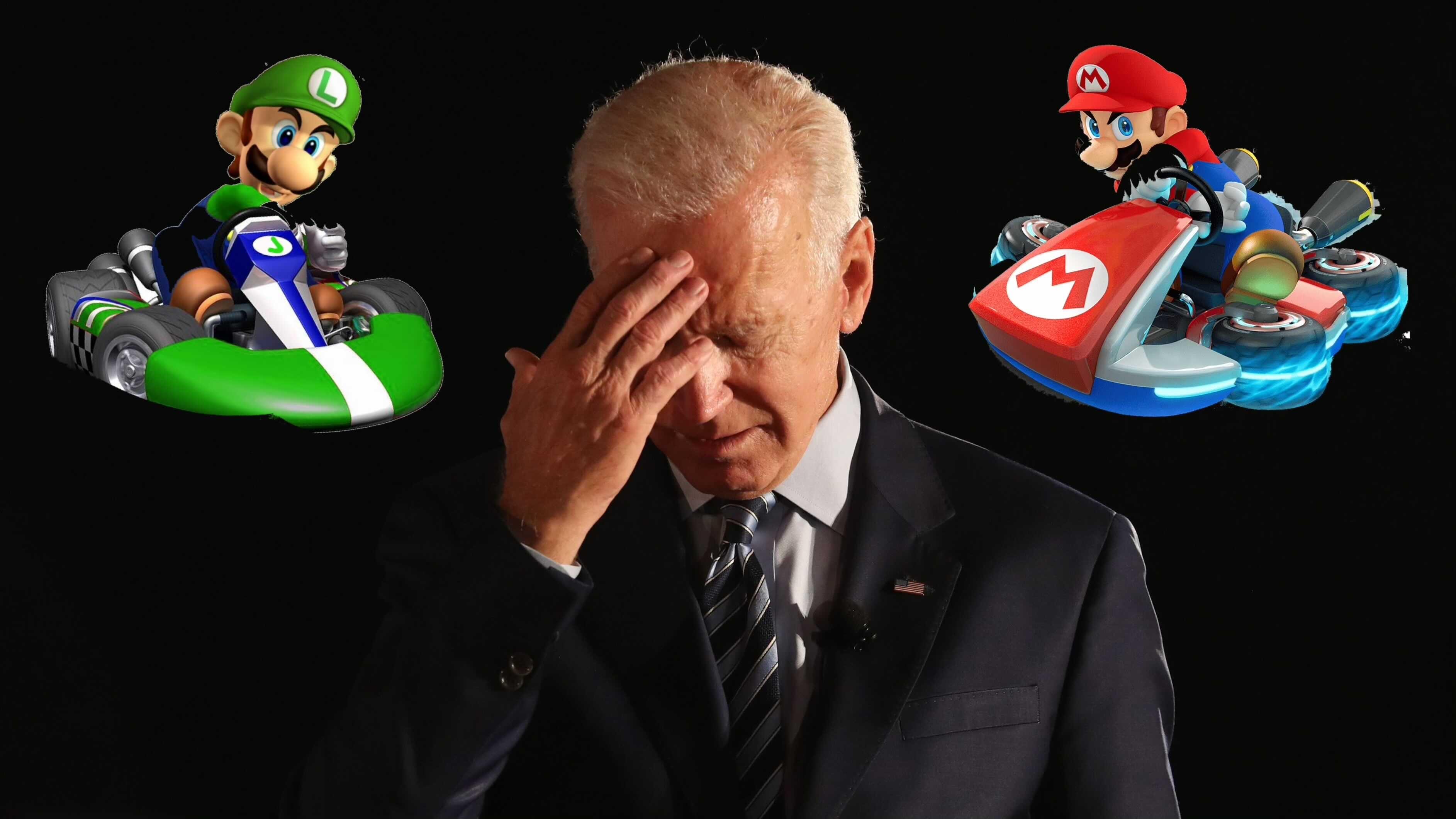 Biden joue à Mario Kart tout le week-end et oublie d'importantes réunions