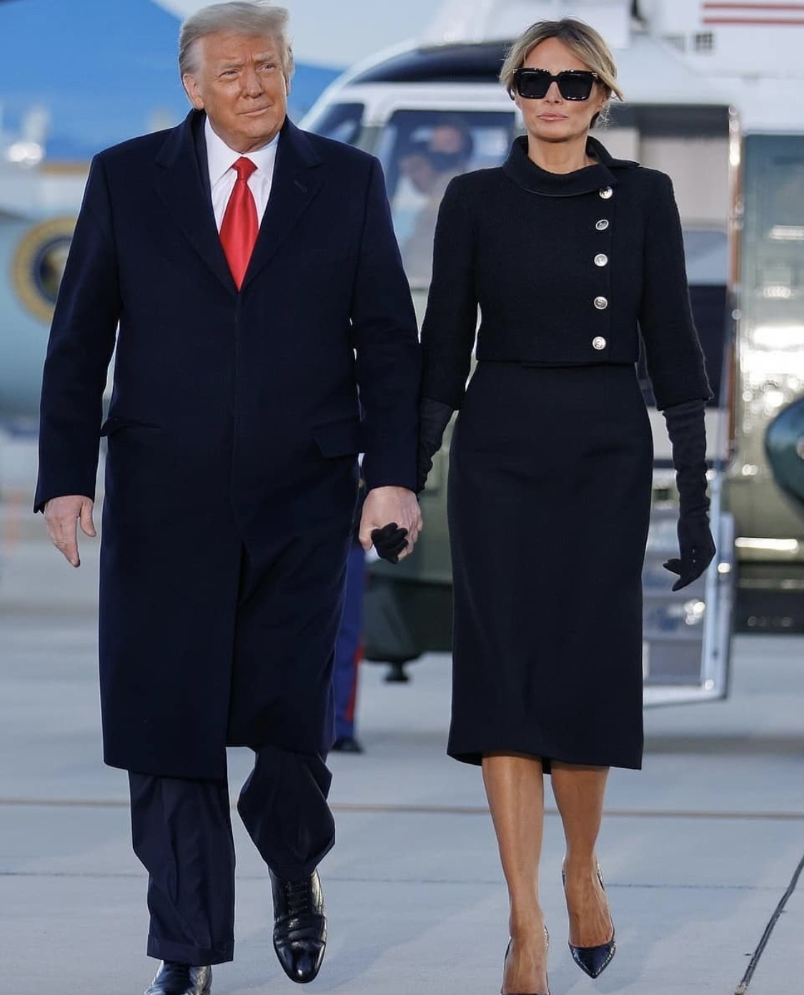 Trump And Melania Leave WhiteHouse In Style