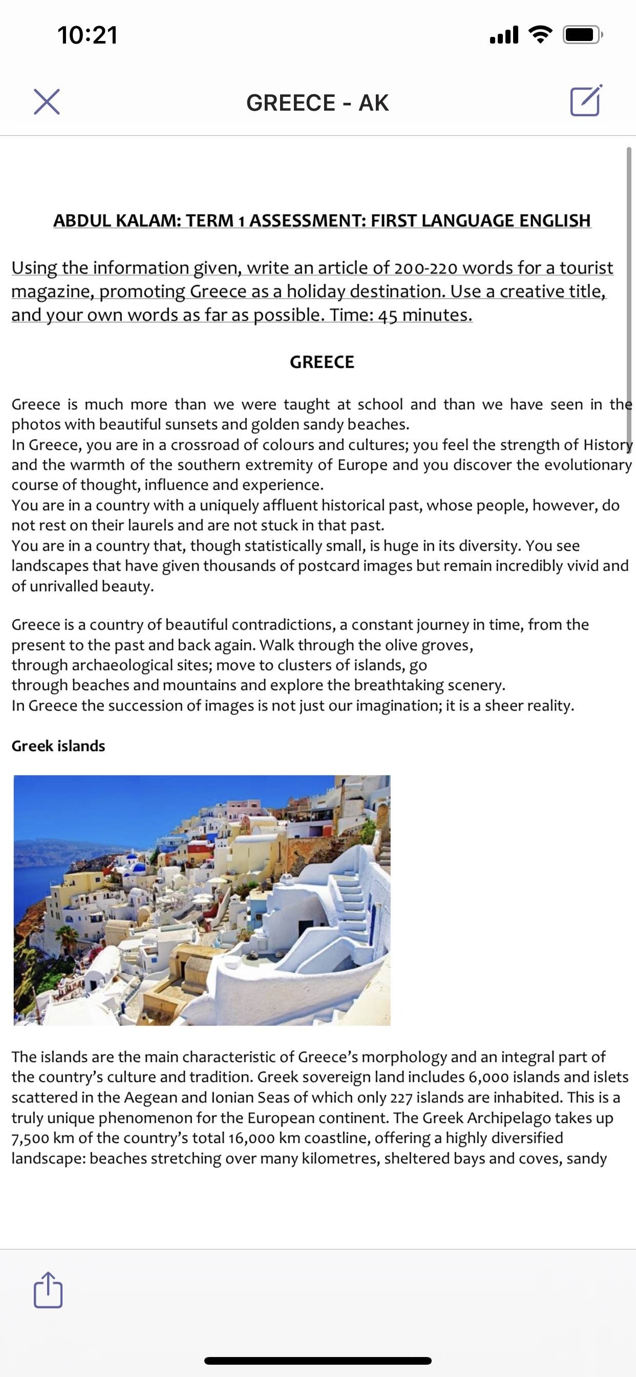 Tourist Magazine Promoting Greece As A Holiday